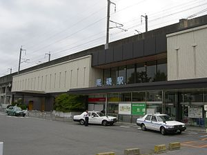 Kuroiso Station - Kuroiso Stationstation building under the Tohoku Shinkansen tracks