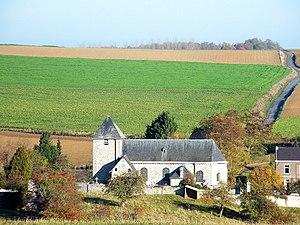 Héron - Image: L'église Saint Hubert de Lavoir