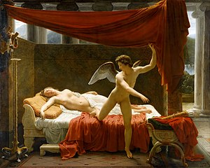 Marius the Epicurean - Cupid and Psyche by François-Edouard Picot (1817). Pater's much-admired translation of Apuleius's 'Cupid and Psyche' is one of the interpolated texts in Marius the Epicurean