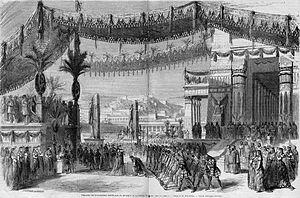 La reine de Saba - Act I, scene 2 in the premiere, design by Édouard Desplechin