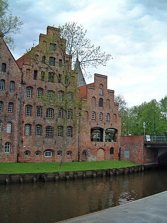 Nosferatu - The Salzspeicher in Lübeck served as the set for Orlok's house in Wisborg.