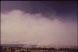 Longview, Washington - The Kaiser Aluminum and Weyerhauser plants in 1972
