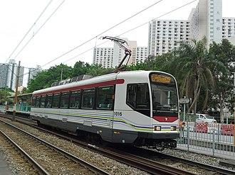 Light Rail (MTR) - Image: LRT1016 615P