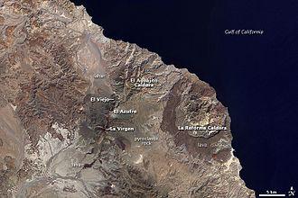 Volcanoes of east-central Baja California - Volcanoes of the east-central Baja California Peninsula. Landsat 7 image, 2000