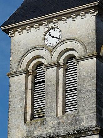 Abat-son - Image: La Tour Blanche église abat sons