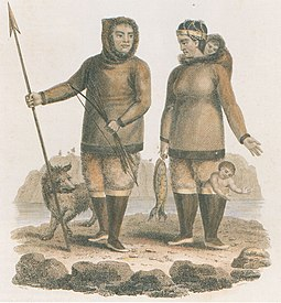 Depiction of the Inuit of Labrador, c. 1812 Labrador Eskimoindianer, nach den Berichten eines Herrnhuter Missionars, 1812.jpg