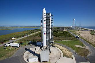 Mid-Atlantic Regional Spaceport - Launch pad 0B with Minotaur V rocket in September 2013.