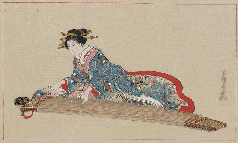 ファイル:Lady playing koto.jpg