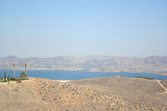 Lake Mathews - A view of Lake Mathews from a distance.