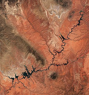 Lake Powell reservoir in the United States