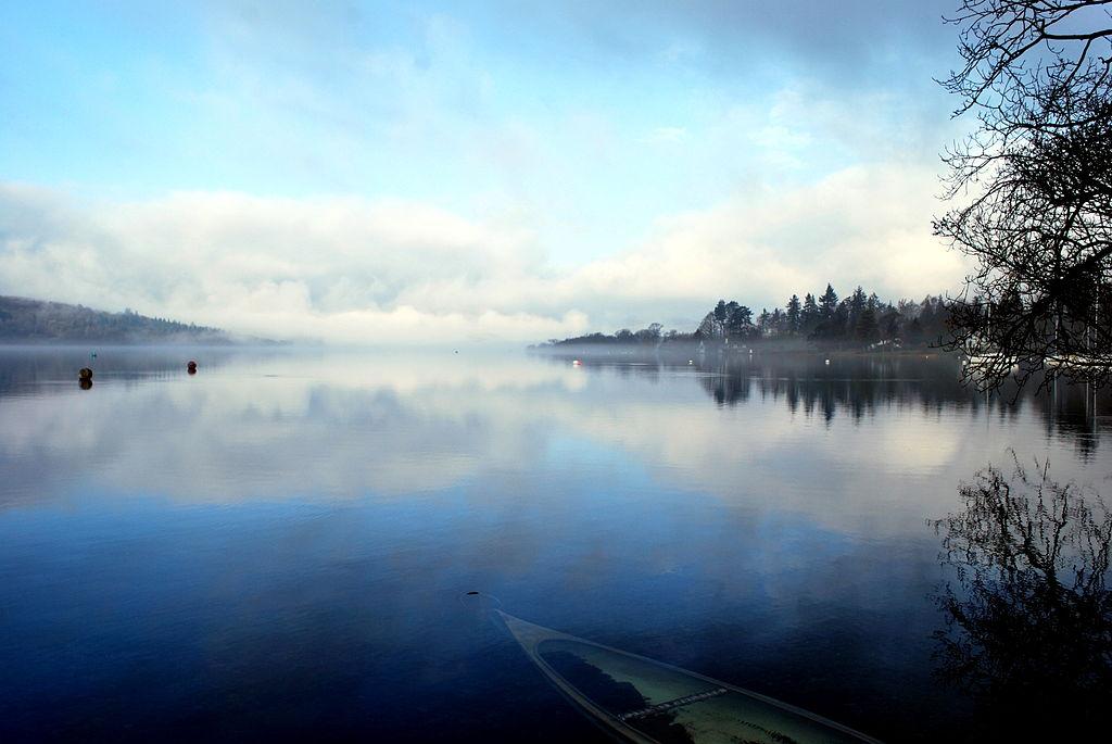 Lake Windermere on a misty morning