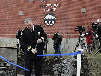 2009 Lakewood shooting - Image: Lakewood police memorial 3