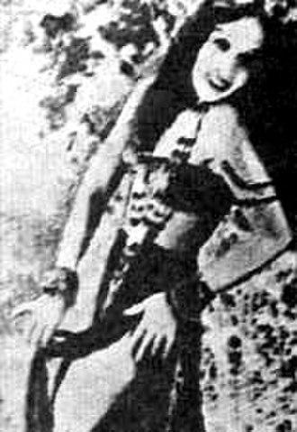 Lalita Pawar - Lalita Pawar, playing the lead in film, Himmat-e-Marda (1935).