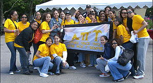picture of the lambda divas doing community se...