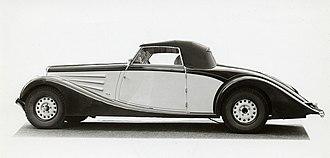 Lancia Augusta - Lancia Belna cabriolet 1935 Pourtout