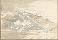 Landscape with Building on a Distant Hill (Smaller Italian Sketchbook, leaf 33 recto) MET DP269442.jpg