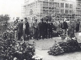 Danish National Exhibition of 1909 - Prince Christian and Niels Neergaard during Danish-American Day
