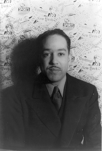 Picture of an author: Langston Hughes
