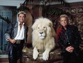 Las Vegas, Nevada's headlining illusionists Siegfried & Roy (Siegried Fischbacher and Roy Horn) in their private apartment at the Mirage Hotel on the Vegas Strip, along with one of their LCCN2011634011.tif