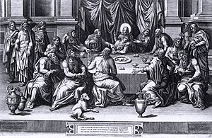 Giorgio Ghisi - The Last Supper by Ghisi after Lombard, 1551, copy in the collection of the Metropolitan Museum of Art