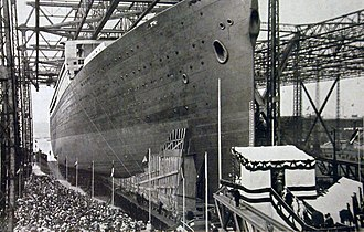 RMS Majestic (1914) - The launch of Bismarck, April 20, 1914
