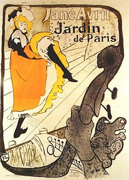 Lautrec jane avril at the jardin de paris (poster) 1893
