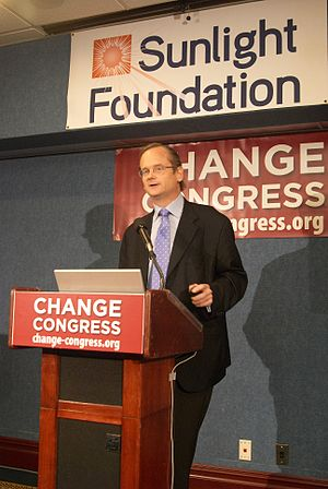 Lawrence Lessig presidential campaign, 2016 - Lessig speaking before Change Congress and the Sunlight Foundation
