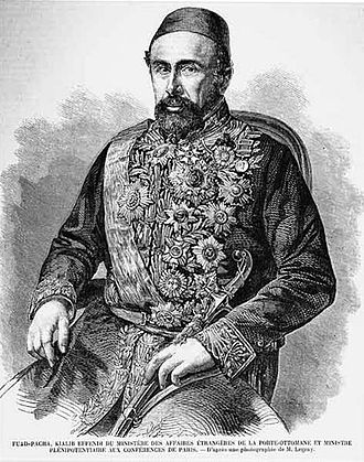 Mehmed Fuad Pasha - Engraving of Fuad Pasha (1858) from a photograph by Gustave Le Gray