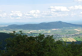Mont Rougemont looms over the surrounding region.