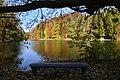Le banc en face des milles couleurs de l'étang de la Grande Queue (22755376585).jpg