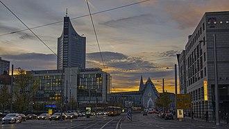 Augustusplatz - Augustusplatz in the evening