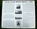 Lennox College Civil War Monument information plaque Hopkinton IA.jpg