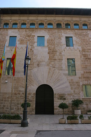 Corts Valencianes - Main entrance to the Corts. (Palace of the Borgias)
