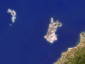 Likoma District - Satellite view of the Likoma District.