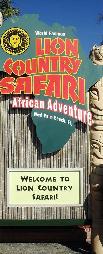 Lion Country Safari - Image: Lion Country Safari Entrance