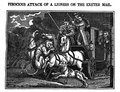 Lion attacking the Exeter mail coach in 1816.png
