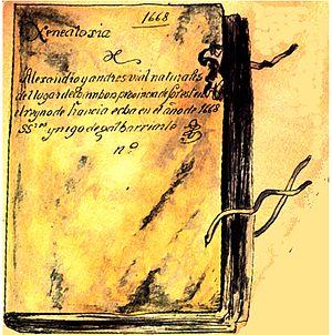 Livre relié de parchemin preuves Alexandre de Vial