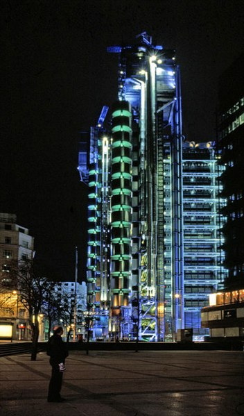 File:Lloyds building, London at night.jpg