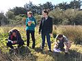 Local students learning how to survey a site near Bideford.jpg