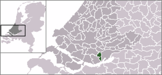 's-Gravendeel - Location of former municipality.