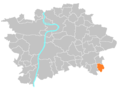 Location map municipal district Prague - Nedvězí.PNG
