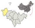 Location of Baicheng Prefecture within Jilin (China).png