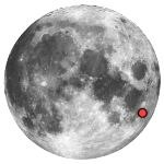 Location of lunar crater vendelinus