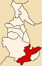 Location of the province Parinacochas in Ayacucho.png