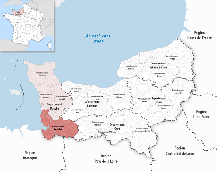 پرونده:Locator map of Arrondissement Avranches 2017.png