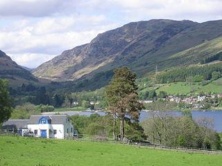 Lochearnhead village in Stirling, Scotland, UK