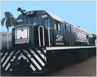 GE U20C - GE U20C from Novoeste railways, in Brazil.