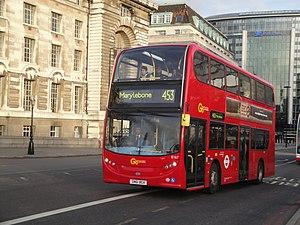 London Buses route 453 - London General Alexander Dennis Enviro400 in November 2011