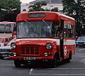 London Transport bus FS19 (MLK 719L) Ford Transit Strachan route H2 Golders Green, July 1978.jpg