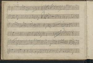 London Sketchbook (Mozart) - Fourth page